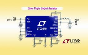 Linear新款同步降压型稳压器LTC3649电压范围宽广,适合多种测试应用