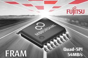 富士通全新FRAM带有高速QSPI接口,并具有4 Mbit记忆容量