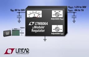 Linear全新降压型DC/DC微型模块稳压器LTM8064可精确调节高负载电流