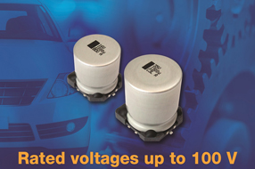 Vishay扩展汽车级SMD铝电容器的电压范围,适用于高温条件下的汽车应用