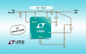 凌力尔特DC/DC转换器LT8335可助设计师最大限度减小外部组件尺寸
