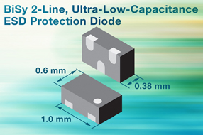 Vishay全新BiSy两线超低电容ESD保护二极管为高速数据线提供安全保障