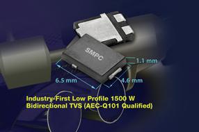 Vishay推出超薄高功率瞬态电压抑制器TPCxxCA