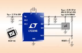 凌力尔特全新低噪声降压-升压型充电泵可节省空间并降低EMI