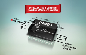 ADI旗下凌力尔特推出非隔离式负输出微型模块稳压器LTM4651