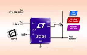 ADI旗下凌力尔特推出高速N沟道MOSFET驱动器LTC7004