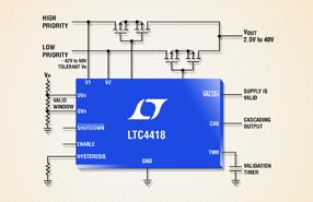 双输入优先级排序器提供低静态电流备份电源切换解决方案
