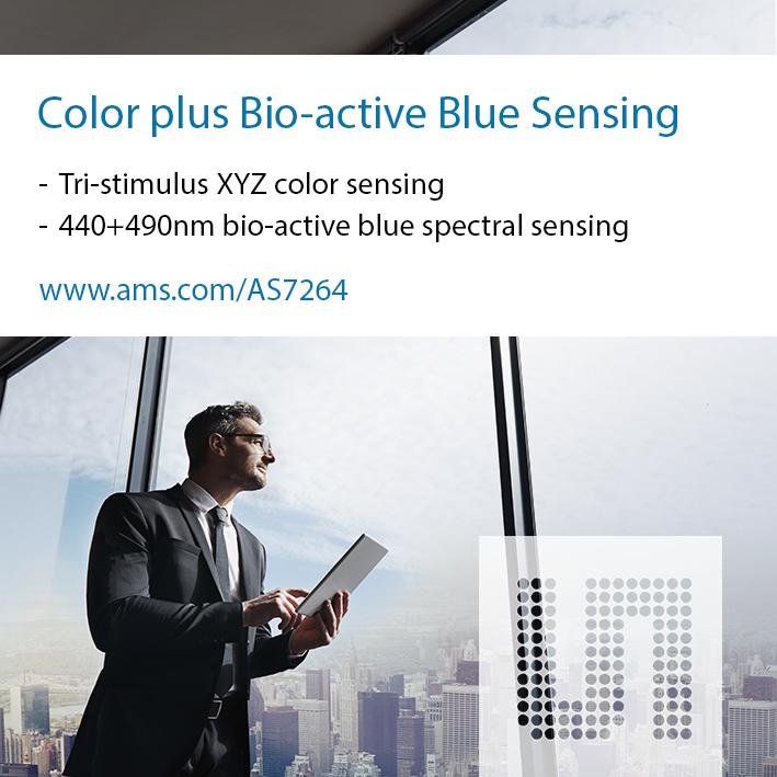 艾迈斯半导体推出三刺激颜色传感器AS7264N