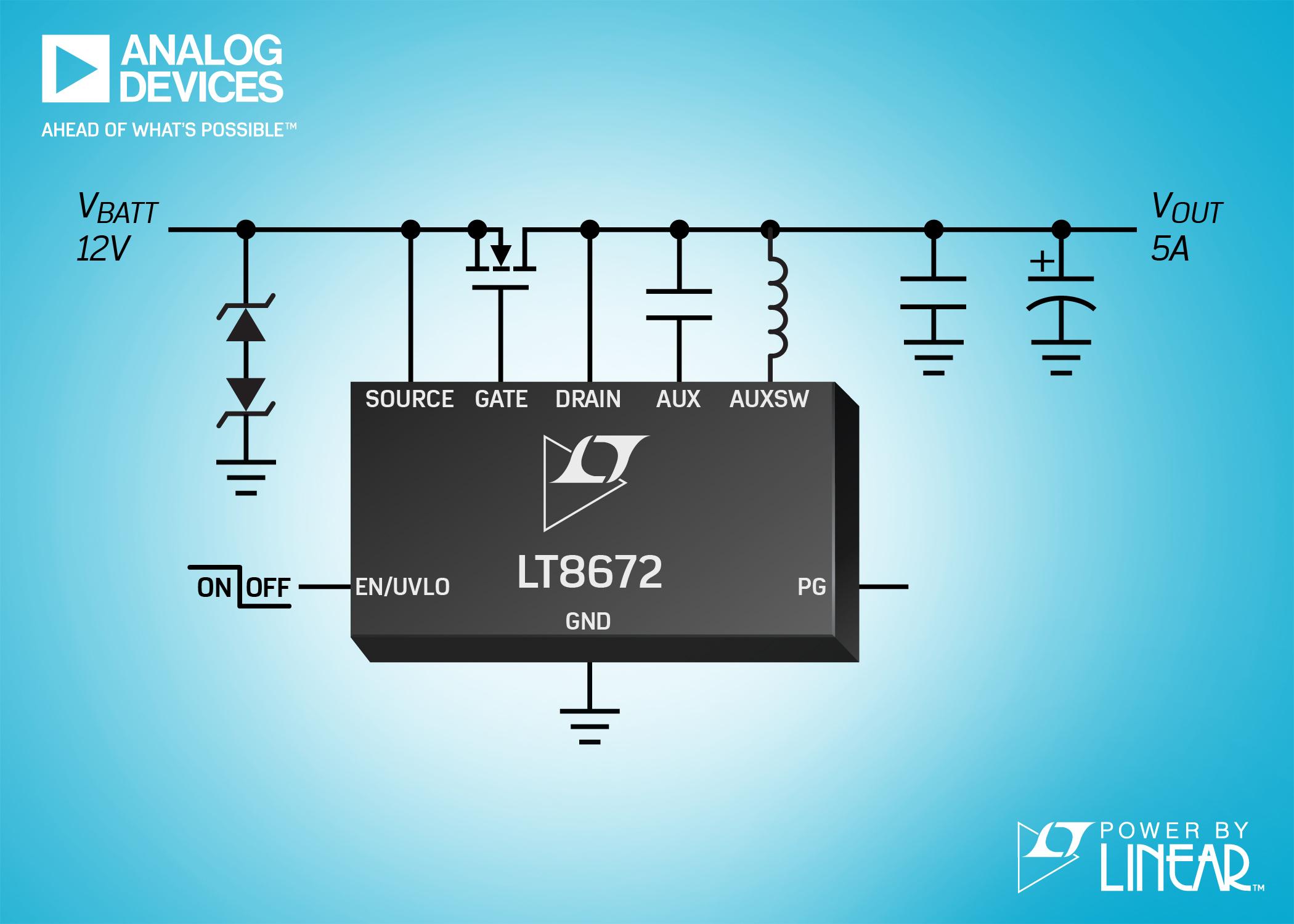 ADI宣布推出双通道、36V、高效率、同步、降压型 LED 驱动器Power by Linear 的 LT3964
