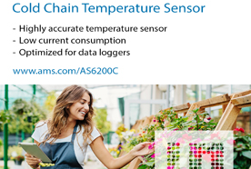艾迈斯半导体推出新型高精度数字温度传感器AS6200C