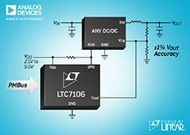 利用一个串行PMBus接口控制任何DC/DC稳压器的VOUT