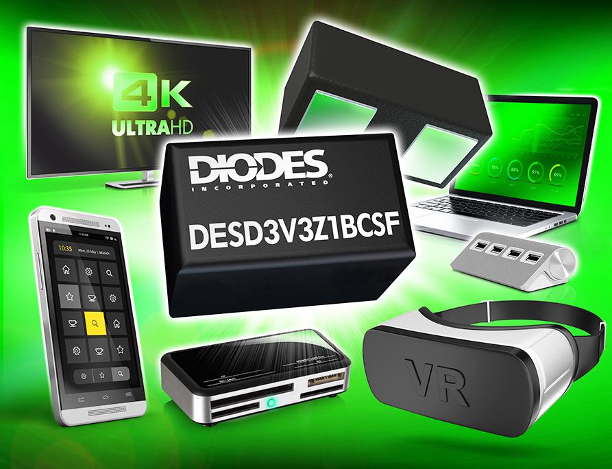 Diodes 公司推出超小型TVS-DESD3V3Z1BCSF-7