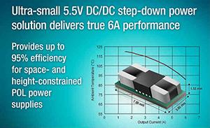 TI推出超小型5.5V DC/DC降压电源模块,实现真正的6A性能