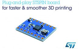 ST 高速、高分辨率电机驱动板,使开源3D打印机性能最大化