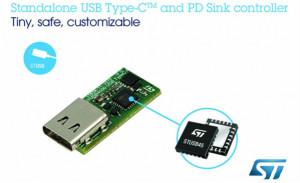意法半导体推出独立式USB Type-C输电控制器