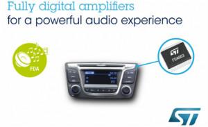 ST的数字输入音频放大器集成汽车诊断功能,制造更安全车辆的声音