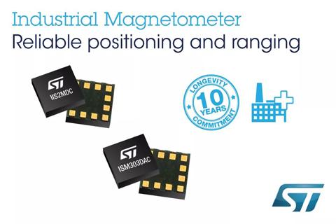 ST推出工业级传感器IIS2MDC磁力计和ISM303DAC电子罗盘