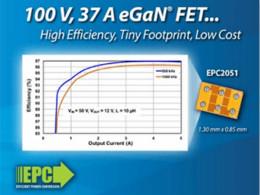 EPC推出100 V、尺寸比等效硅器件小30倍eGaN功率晶体管