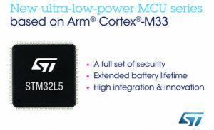 ST推出STM32L5超低功耗微控制器 加强物联网安全防御能力