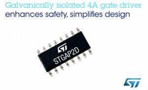 ST的栅极驱动器STGAP2DM集成了电隔离和保护功能
