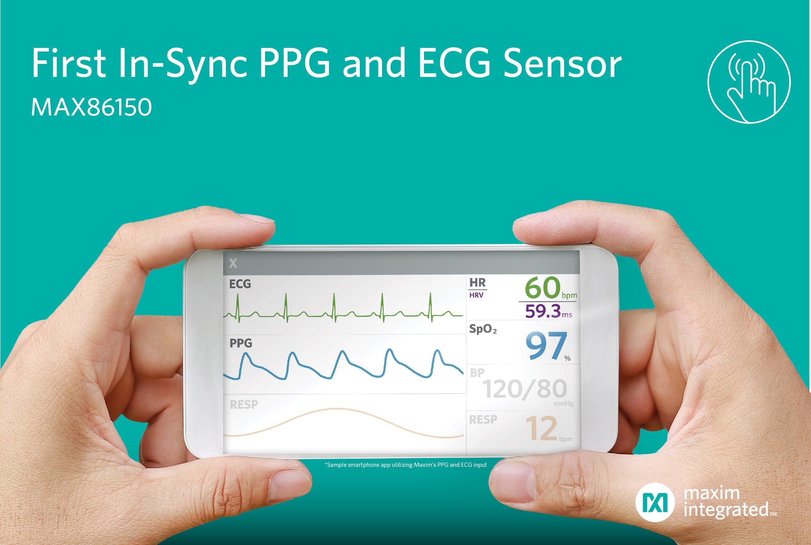 Maxim推出业界首款适用于移动设备的PPG和ECG生物传感器模块