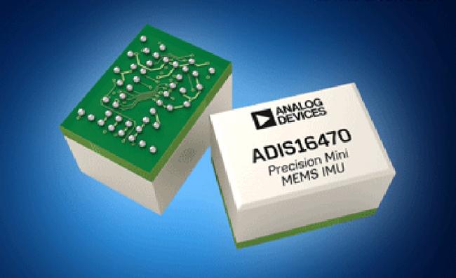 贸泽开售Analog的ADIS1647x IMU,可改善物联网设备的导航功能