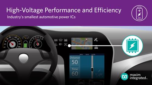 Maxim推出最新电源管理IC,为汽车高压供电提供最小尺寸、最高效率方案