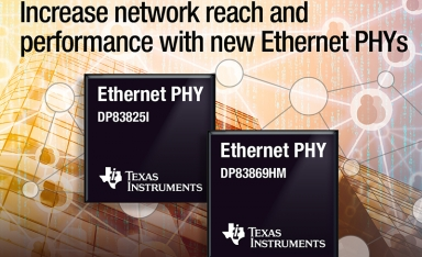 TI推出两款全新以太网物理层收发器