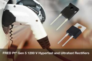 Vishay推出新款FRED Pt 第5代1200 V Hyperfast和Ultrafast恢复整流器降低导通和开关损耗