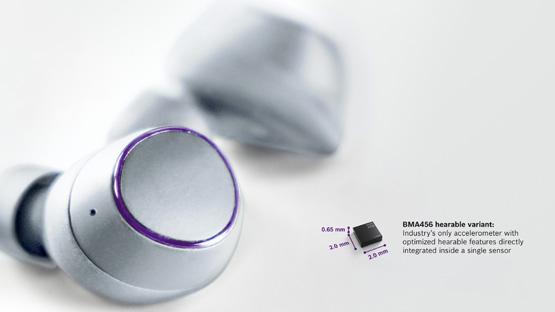 博世推出一款MA456耳穿戴加速度计