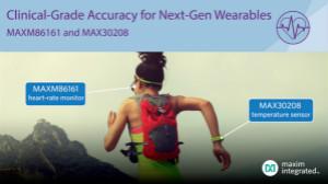 Maxim推出MAX30208溫度傳感器及MAXM86161心率監測器