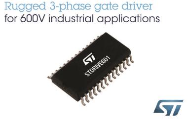 ST推出新款STDRIVE601三相智慧关断闸极驱动器
