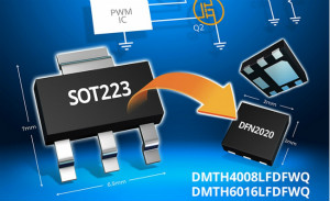 Diodes推出微型车用 MOSFET,可提供更高的功率密度