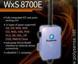 Polysense推出第二代LoRaWAN气体传感器节点---WxS 8700E