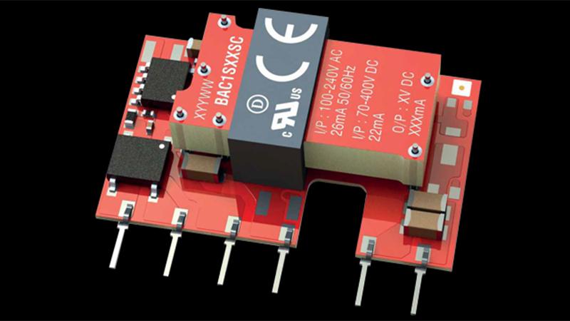 Murata Power Solutions BAC1隔離式1W交流/直流轉換器