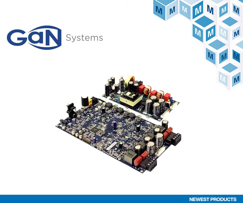 贸泽开售GaN Systems的GS-EVB-AUD-xx1-GS音频评估板