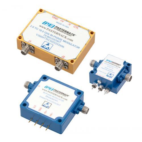 Pasternack推出在0.5至40 GHz频段工作的库存双相调制器