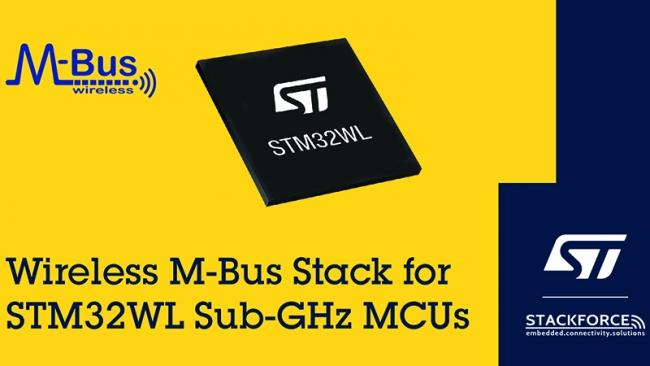 意法半導體引入Stackforce的wM-Bus智能電表總線協議棧
