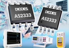 Diodes的精密运算放大器具有超低输入失调电压和低噪声