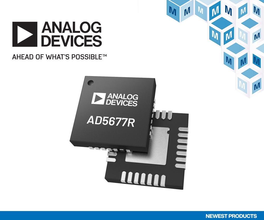 贸泽电子开售Analog Devices AD567xR 数模转换器
