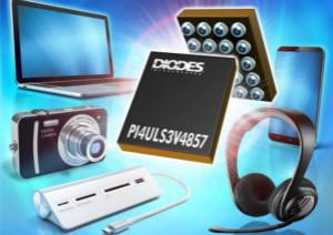 Diodes推出一款兼容SD 3.0的双向电平转换器PI4ULS3V4857
