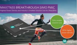Maxim推出业界最小的四路输出SIMO电源管理IC,将功〗率密度提高85%