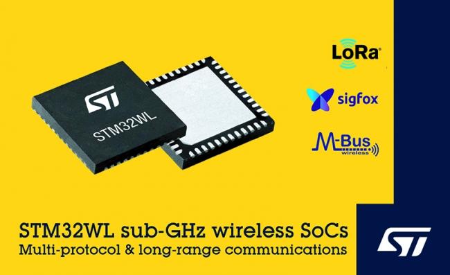 意法半导体▲推出面向大众市场的 STM32WL LoRa?无线系『统芯片系列产品