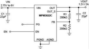 具有极好负载和线性调整率且集成电感的同步降压电源模块