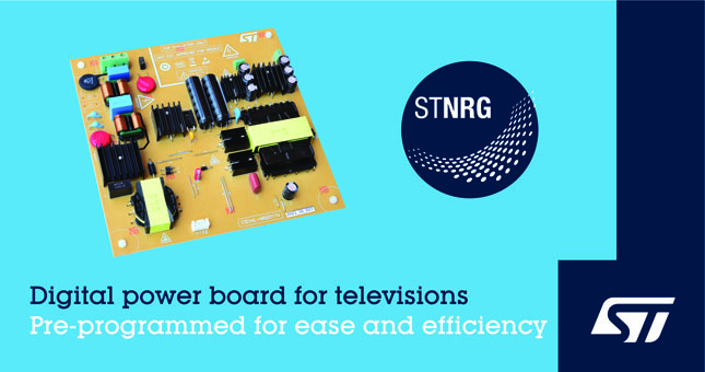 意法半導體推出 LED 電視 200W 數字電源解決方案