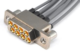 穀波電子推出8芯射頻矩形混(zhuang)裝電纜組(jian)件
