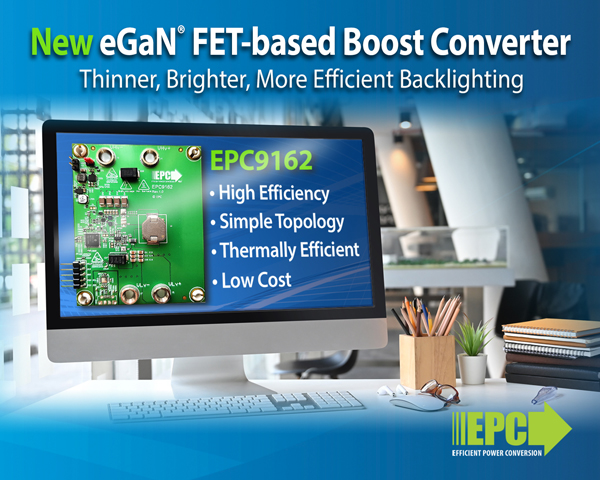 EPC推出双向降压或反向升压转换器演示板——EPC9162